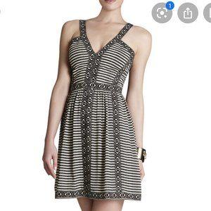 BCBG Melanie Printed Sleeveless V-Neck Dress